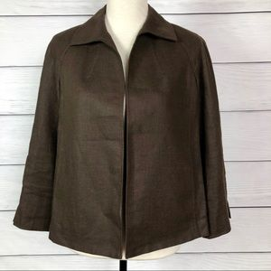 Talbots Irish Linen Jacket Petite Medium